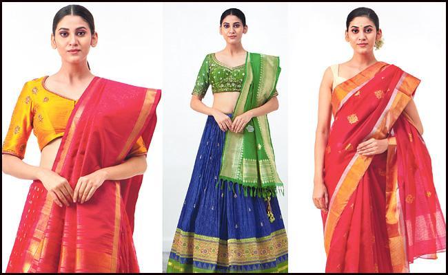 Bhargavi Kunam Chanderi Silk Latest Design Sarees With Bright Combination - Sakshi