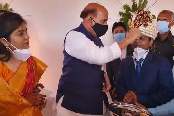 RajNath Singh Surprised His Adopted Son Marriage - Sakshi