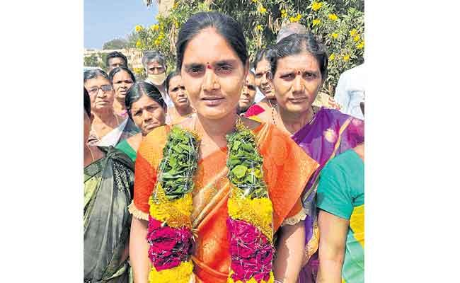 Village Volunteer Was Elected Sarpanch - Sakshi