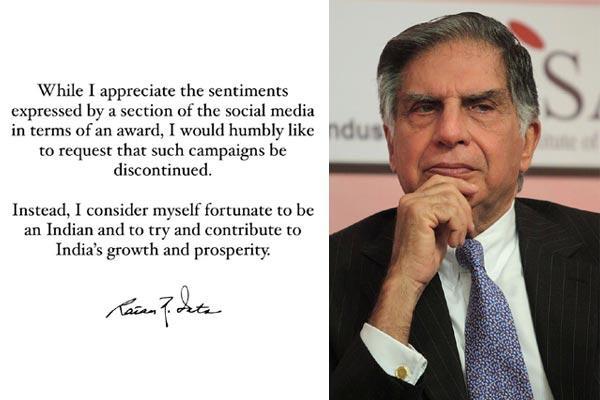 Bharat Ratna for Ratan Tata trends on Twitter - Sakshi