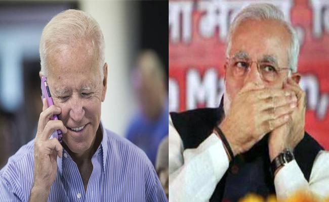 PM Narendra Modi Speaks to US President Joe Biden - Sakshi