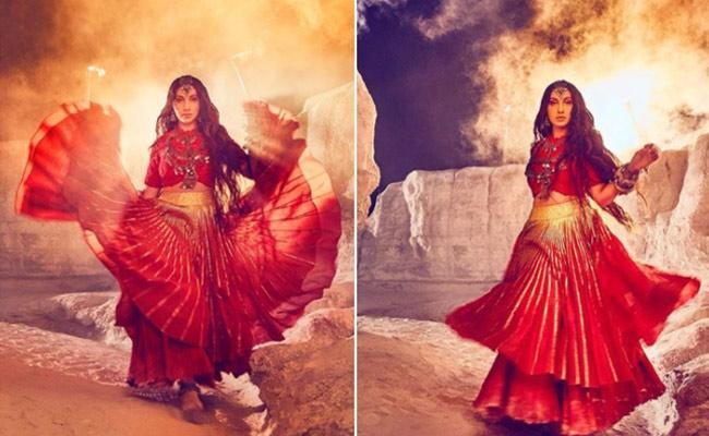 Nora Fatehi Not Sleep Properly Four Days Shooting Chhor Denge - Sakshi