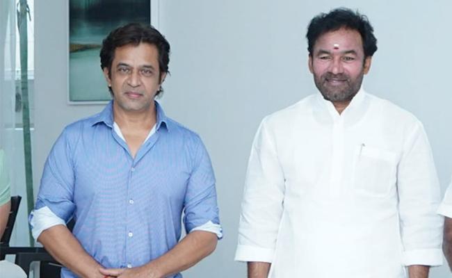 Actor Arjun Meets Kishan Reddy Ahead Tamilnadu Assembly Polls - Sakshi