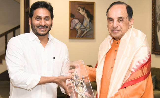 BJP MP Subramanian Swamy Meets CM Jagan - Sakshi