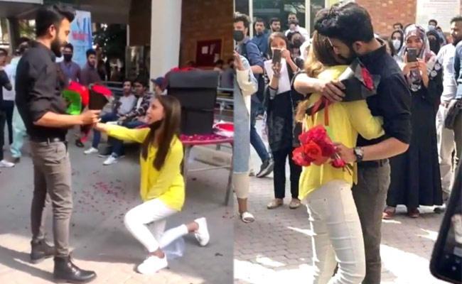 Lahore University Proposal Video: Students Expelled For Hugging - Sakshi