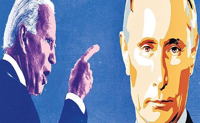 America President Joe Biden Calls Vladimir Putin As Killer - Sakshi