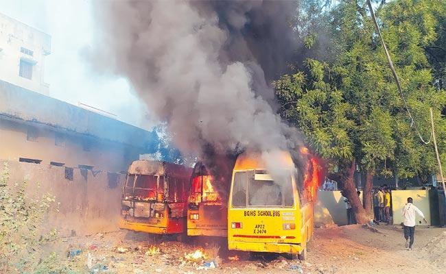 Person Burned Alive Set On Fire To Disperse Bees In Makthal - Sakshi
