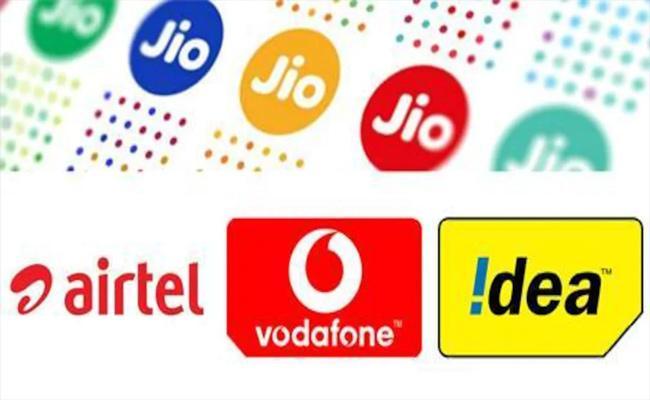 Jio, Vodafone Idea, Airtel May Not Increase Tariff Rates - Sakshi