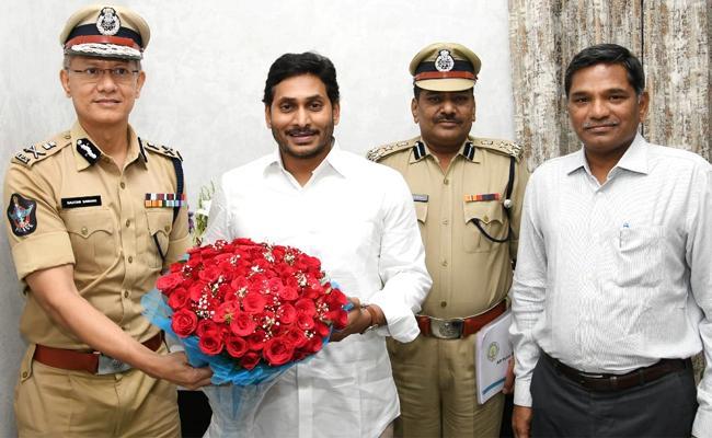 CM YS Jagan Appreciates To DGP Gautam Sawang And Police Department - Sakshi