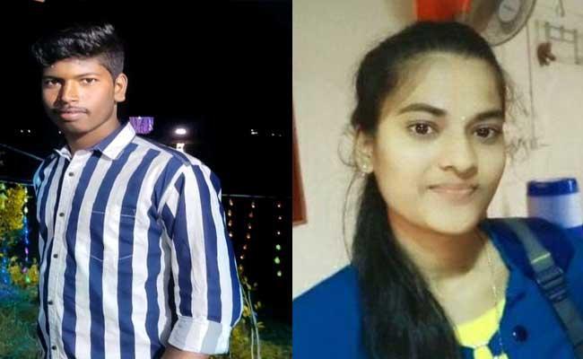 Lovers Lost Life On Railway Track Near PrakasamA - Sakshi
