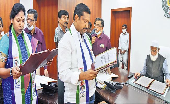 Two MLCs Swearing in of YSRCP - Sakshi