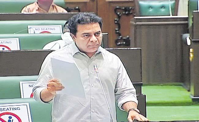 Minister KTR Fire On Central Govt  in Assembly - Sakshi