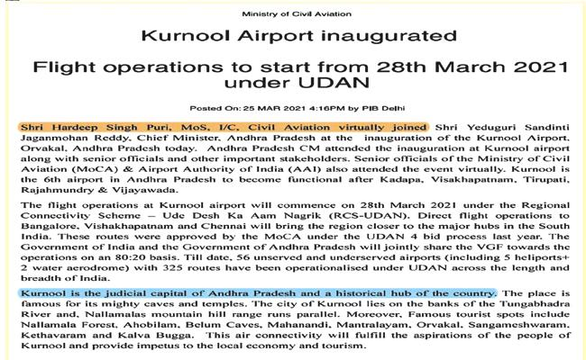 Kurnool is a unique region in the country - Sakshi