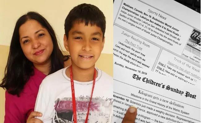 Nidhi Arora Created children Newspaper To Improve Her Son Knowledge - Sakshi