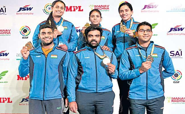 India topped the medals tally of ISSF World Cup with a whopping 30 medals - Sakshi