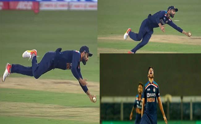 Indi vs Eng Virat Kohli Stunning Catch And Fielders Dropped Catches - Sakshi