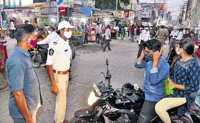 Police efforts to prevent corona virus - Sakshi