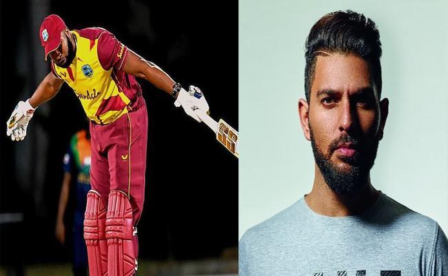 Yuvraj Singh Reaction On Kieron Pollard 6 Sixes In An Over - Sakshi