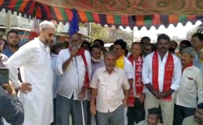 MP Asaduddin Owaisi Express Solidarity For AP Bandh Against Central Government's Decision To Privatise Vishaka Steel Plant - Sakshi