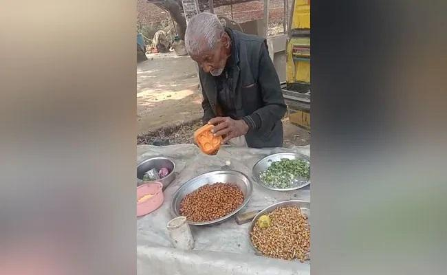 UP 98 Year Old Seen Selling Chana Video Viral - Sakshi