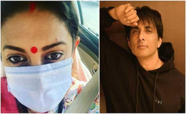 Smriti Irani Reminds Her Fans To Wear Masks: Celebrities Comments - Sakshi