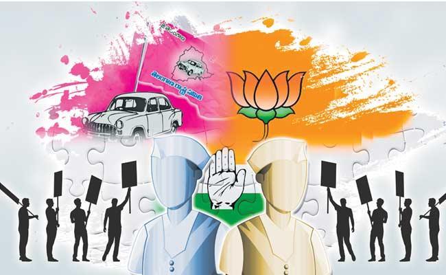 Political Parties Graduate MLC Election Campaign - Sakshi