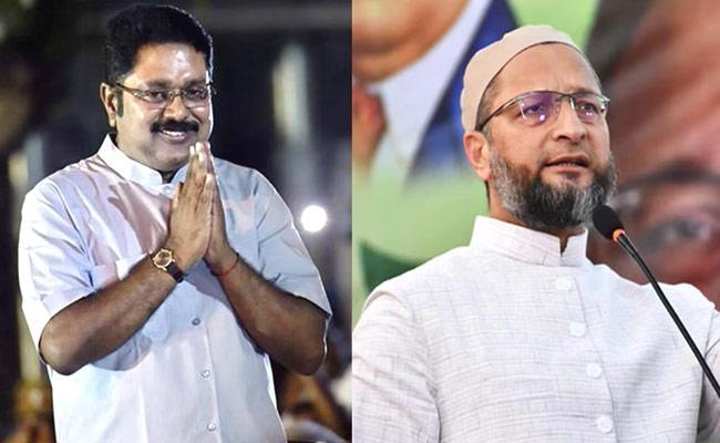 Tamil Nadu Assembly Polls Asaduddin Owaisi Ties Up With TTV Dhinakaran - Sakshi
