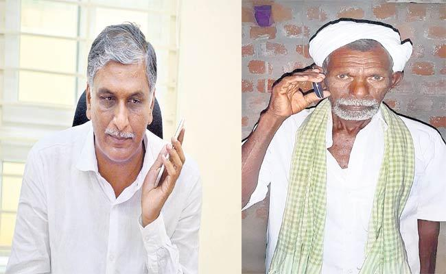 Minister Harish Rao Phone Call To Oil Farm Formers - Sakshi