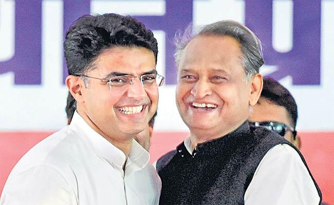 Bypoll: Gehlot And Pilot Attend Rallies As Congress Plays Unity Card - Sakshi