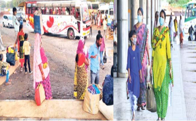 KSRTC Strike 3r Day Buses Scarcity Festival Karnataka - Sakshi