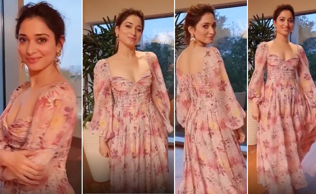 Shocking Price Of Actress Tamannaah Summer Fashion Dress Goes Viral - Sakshi