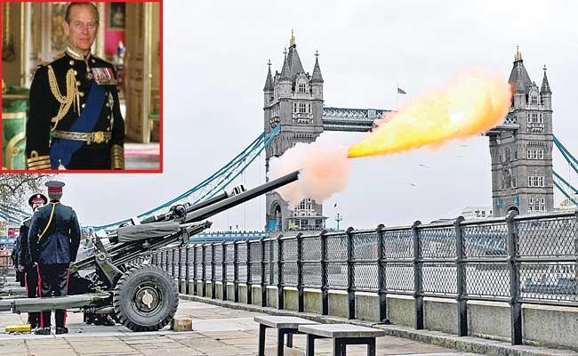 Gun salutes mark Prince Philip death across the UK - Sakshi