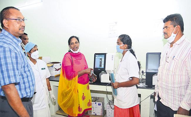 CID attacks on Statewide government hospitals of AP  - Sakshi