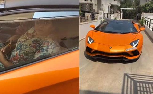 Viral: Prabhas Sister Praseedha Enjoying Ride In His New Lamborghini Car - Sakshi