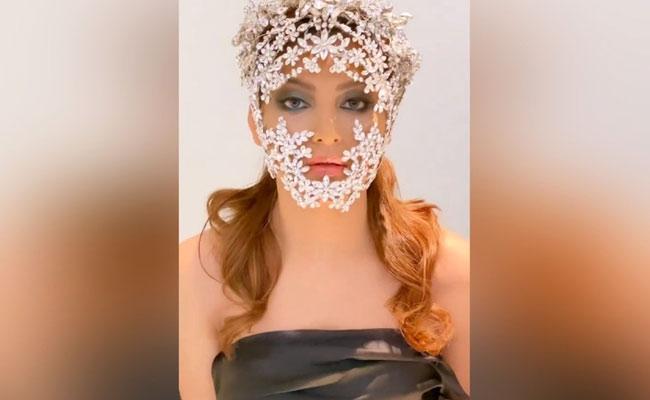 Urvashi Rautela Wears Diamond Studded Mask Worth Rs 3 Crores - Sakshi