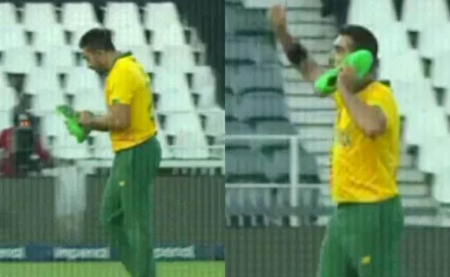 SA vs Pak Tabraiz Shamsi Wicket Celebration First T20I Goes Viral Why - Sakshi