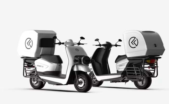 e-scooter for commercial delivery launched by Kabira Mobility - Sakshi