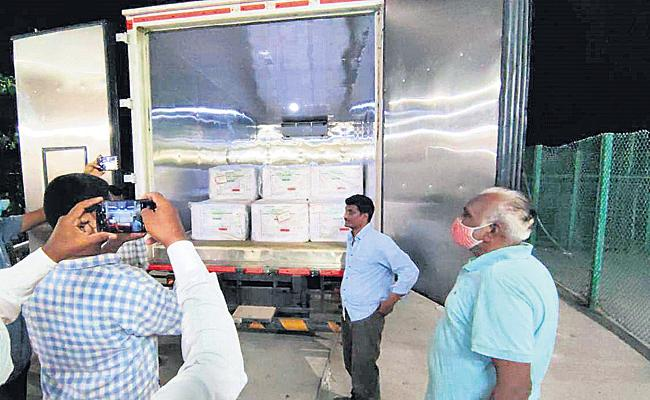 Above 4 lakh vaccine doses reached AP - Sakshi