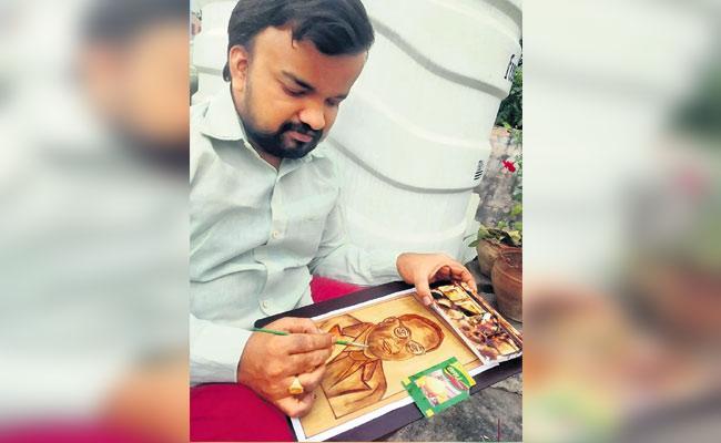 Wonderful Dr B R Ambedkar Art By Vizag Suresh - Sakshi