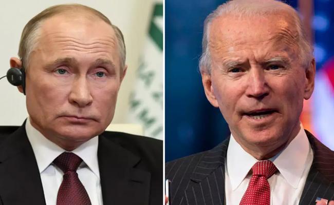 Joe Biden Calls Putin Over Russian Military Presence Near Ukraine - Sakshi