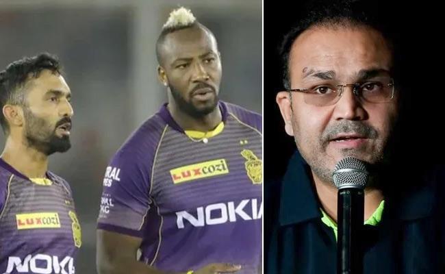 IPL 2021: Sehwag Slams Russel, Karthiks Approach After KKR Shameful Defeat Against Mumbai Indians - Sakshi