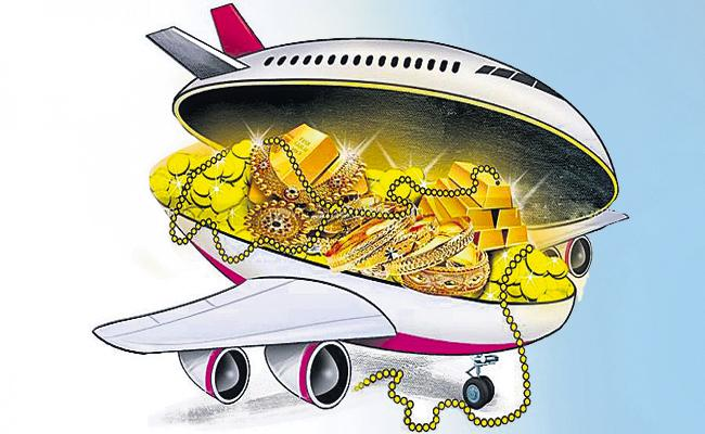 Illegal gold smuggling from Arab countries to Chennai - Sakshi