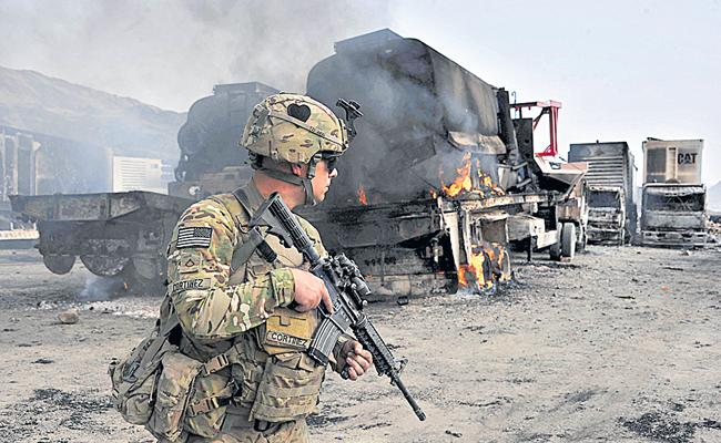 USA Decides Withdrawal OF Forces In Afghanistan - Sakshi