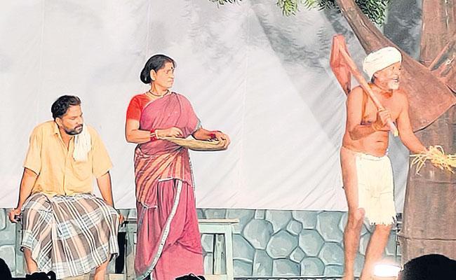 Telugu Classical Theatre Arts: Telugu Natakam, Theatre Artists in Srikakulam - Sakshi