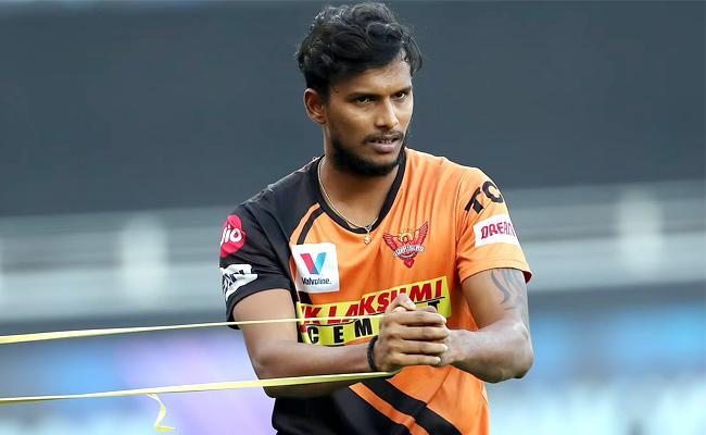 IPL 2021: T Natarajan Did Not Play Because Of Knee Injury - Sakshi