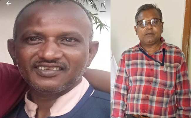Two People Deceased In Road Accident At Sagar Pylon Colony Nalgonda - Sakshi