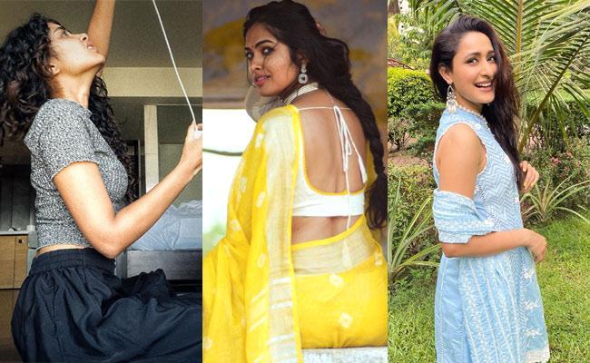 Social Hulchul: Sreemukhi, Pragya Jaiswal Share Videos - Sakshi