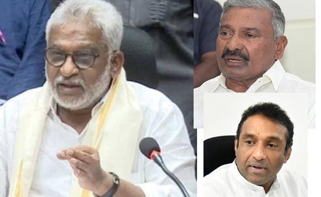 AP Ministers Fire On Chandrababu Election Bycott Statement - Sakshi