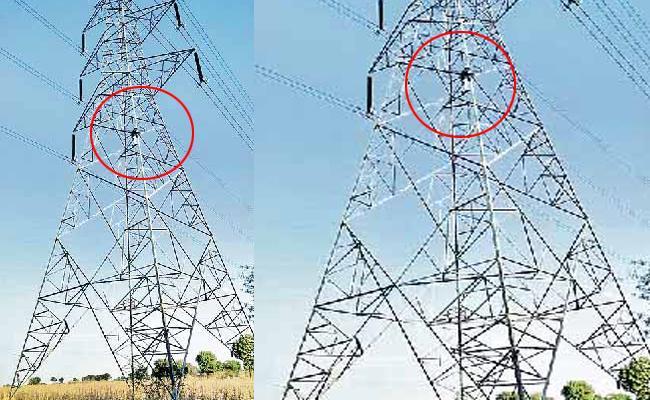 farmer climb current pole for land in kandukur - Sakshi