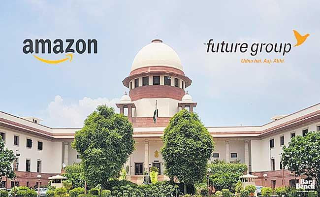 Supreme Court stays proceedings before Delhi HC in Amazon Future case - Sakshi